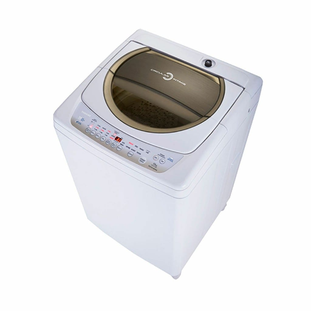 Toshiba 10 Kg Topload Fully Auto Washer, White Color,Star Crystal Drum Made In Thailand, (H*99,W*60,D*62Cm)