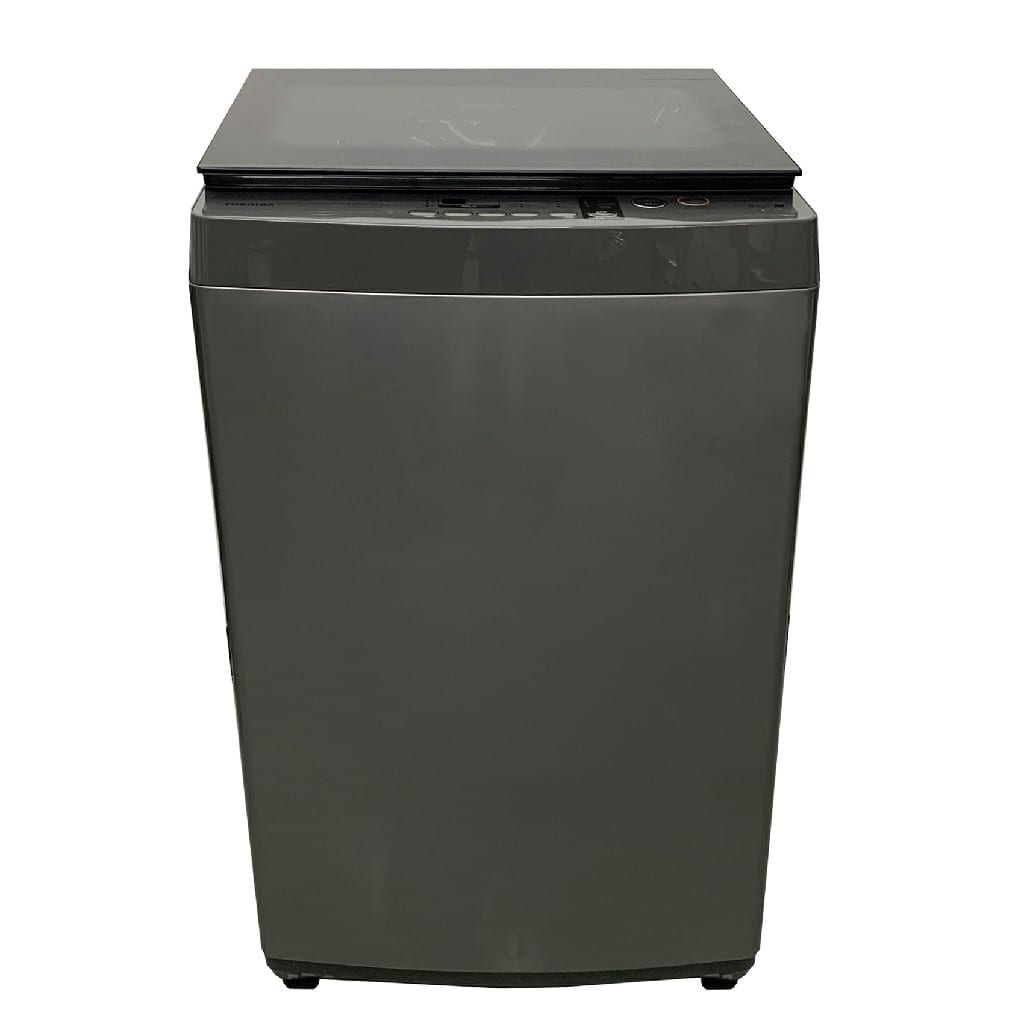 Toshiba  8 Kg Topload Fully Auto Washer, Great Waves, Hot And Cold With Pumping Black  Color Made  Thailand