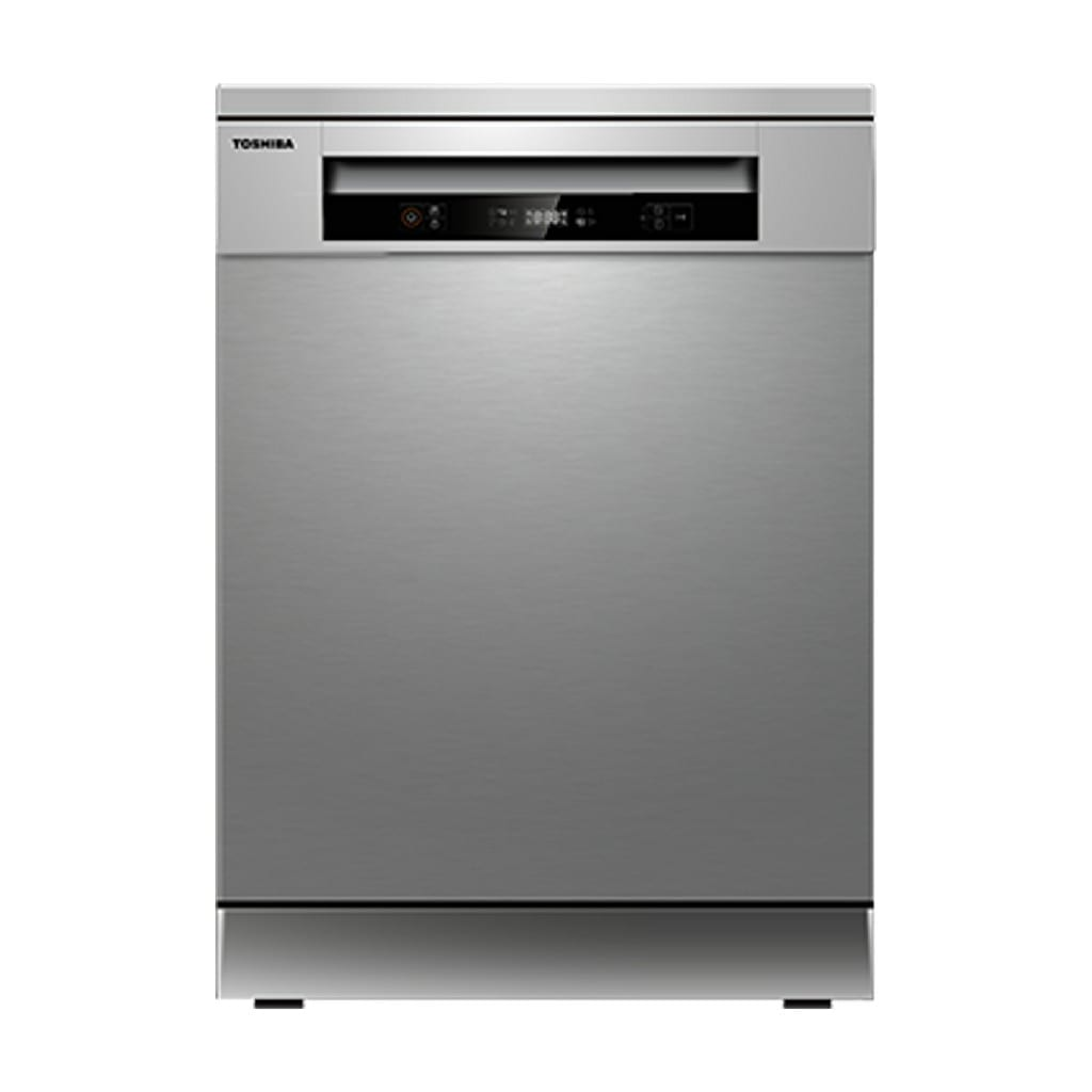 Toshiba Dish Washer Silver  Color , 14 Place Setings , 220V, 50Hz, 6 Programmes, Half Load Delayed Start, A++  Energy, 49 Db Noise