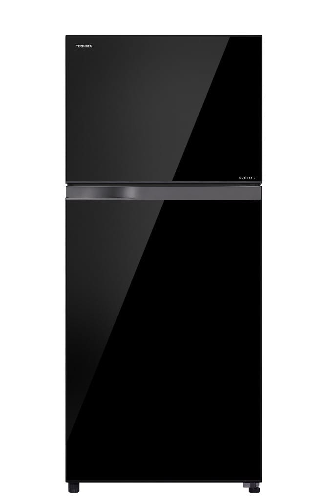 820 Ltr,Toshiba Doubledoor Refrigerator,Led Hybrid Deodrizer,50-60Hz Glass Shelf,Dark Black Glass Door,Made Thailand, (H*185,W*81,D*75Cm)