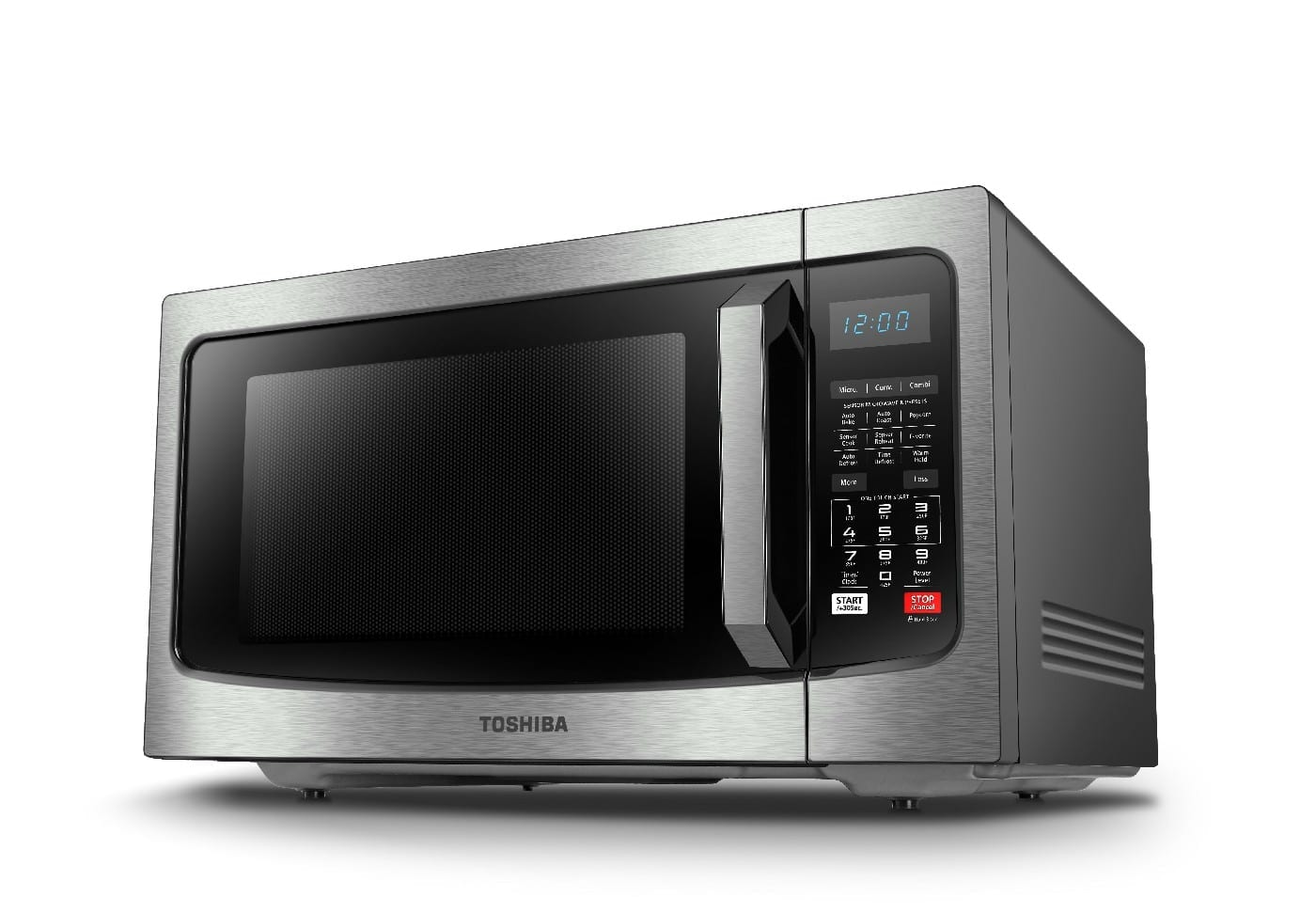 Toshiba Microwave  42L Convection Microwave10 Auto Cook Menu 11 Power Level Membrane Control Microwave Power (W): 1000 Grill Power (W): 1100 Available In Black Stainless Steel
