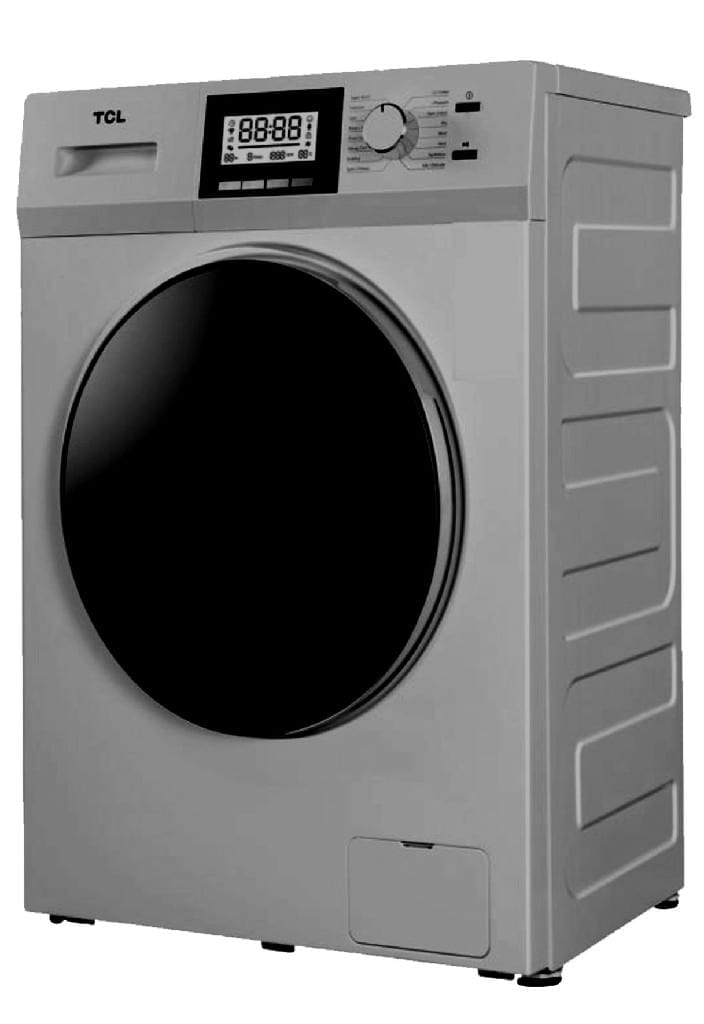 Tcl 8Kg Front Loading, 8Kg Washer And 5Kg Dryer, Inverter, Led Display,220-240V/50Hz, 1400Rpm,Silver Colour, Single Water Inlet, With Pump, Universal Motor, Bs Plug   (W * D * H)60 * 60 *85