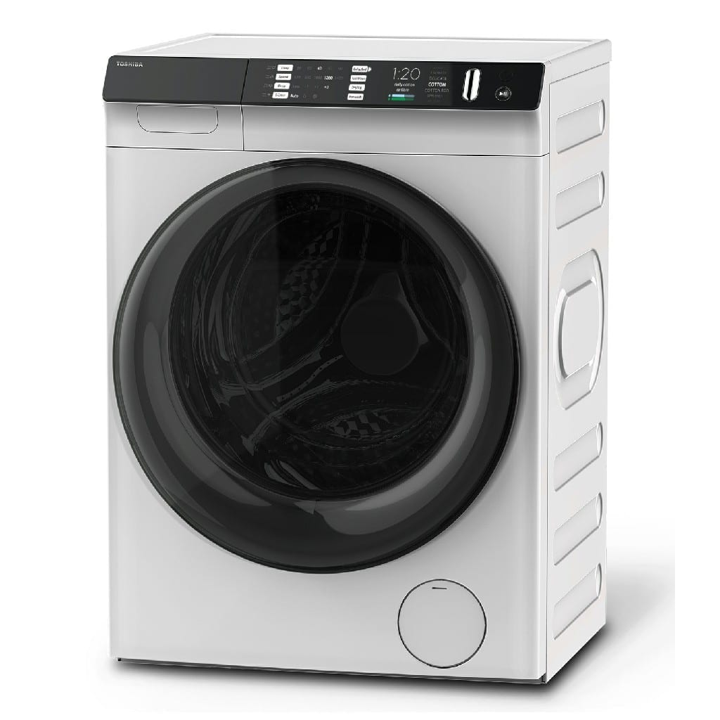 Toshiba Washer / Dryer  8 / 8 Kg, 1400 Rpm, Great Waves, Sense Dose,Inverter Motor, 550Mm Mega Door, Led Drum Light, Anti Bacterial Gasket  (Wxdxh) (Mm):  595X565X850