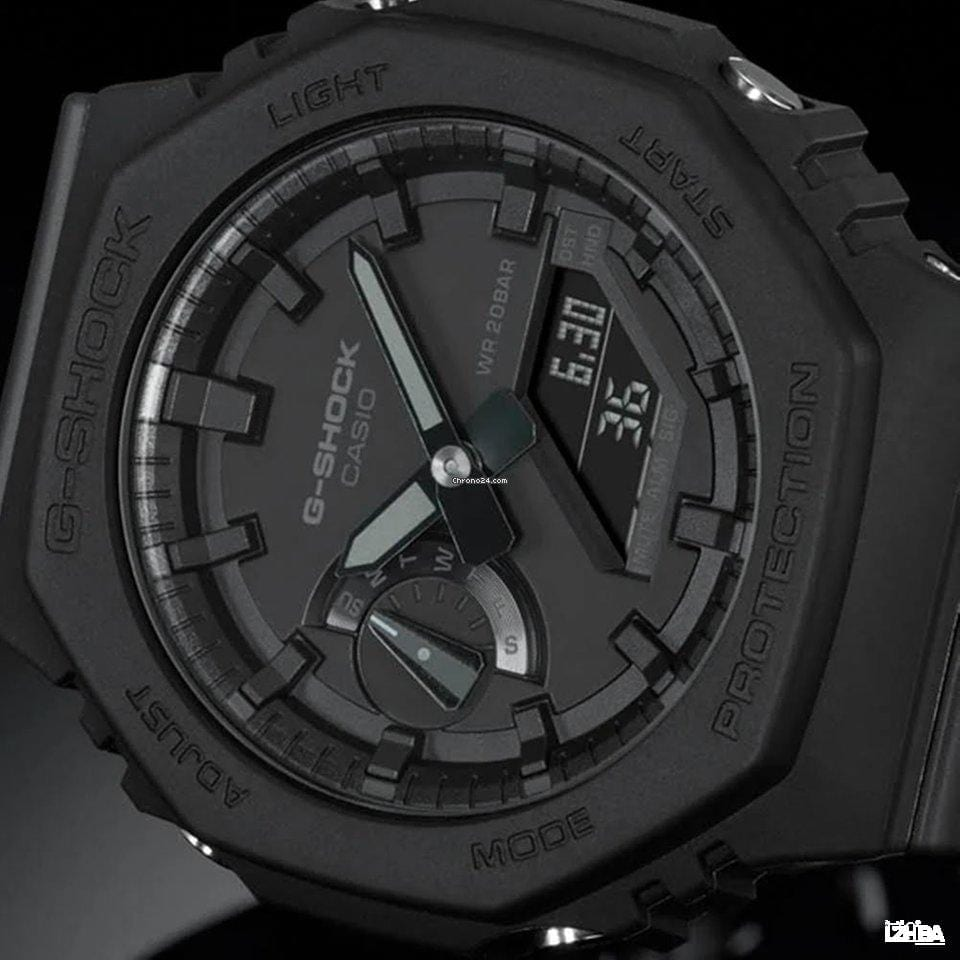 Casio G-shock 'Casioak' Blackout Carbon Core Guard