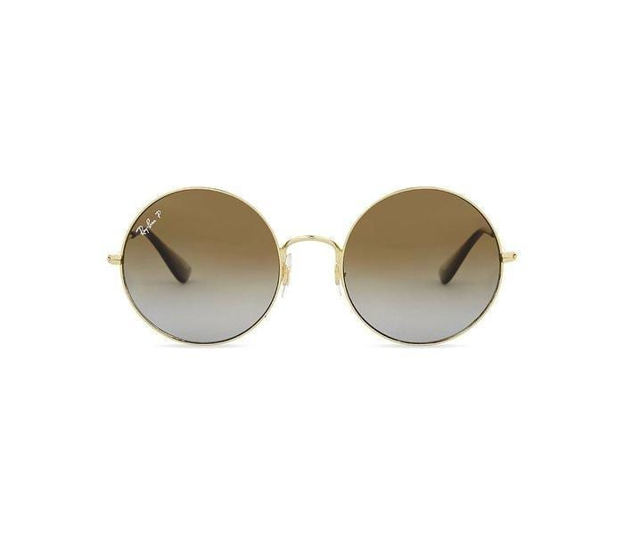 Ray-Ban 0RB3592 001/T5 Round Gold Frame & Brown Gradient Mirrored Sunglasses for Men