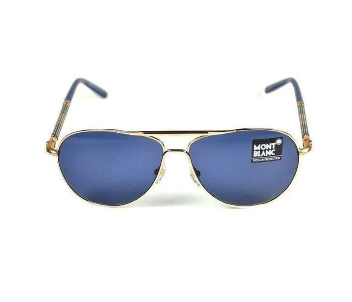 Mont Blanc MB 512S 28v Aviator Gold & Navy Blue Frame and Na