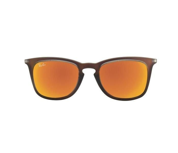 Ray-Ban 0RB4221 61676Q-50 Wayfarer Brown Frame & Red Mirrored Sunglasses for Men