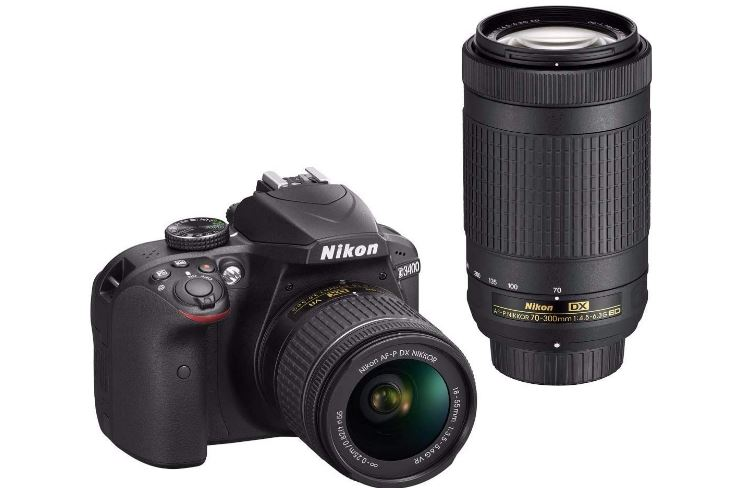 Nikon D3400 with 70-300mm wide lens
