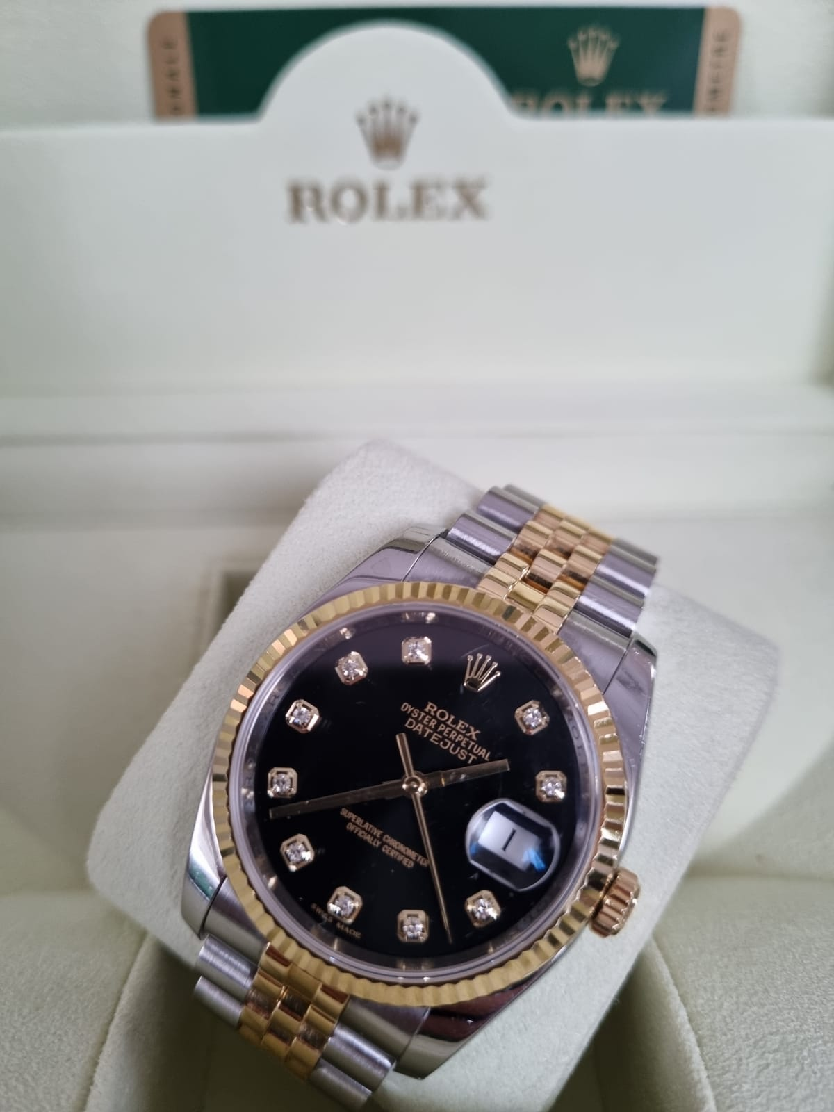 Rolex datejust 36mm half gold