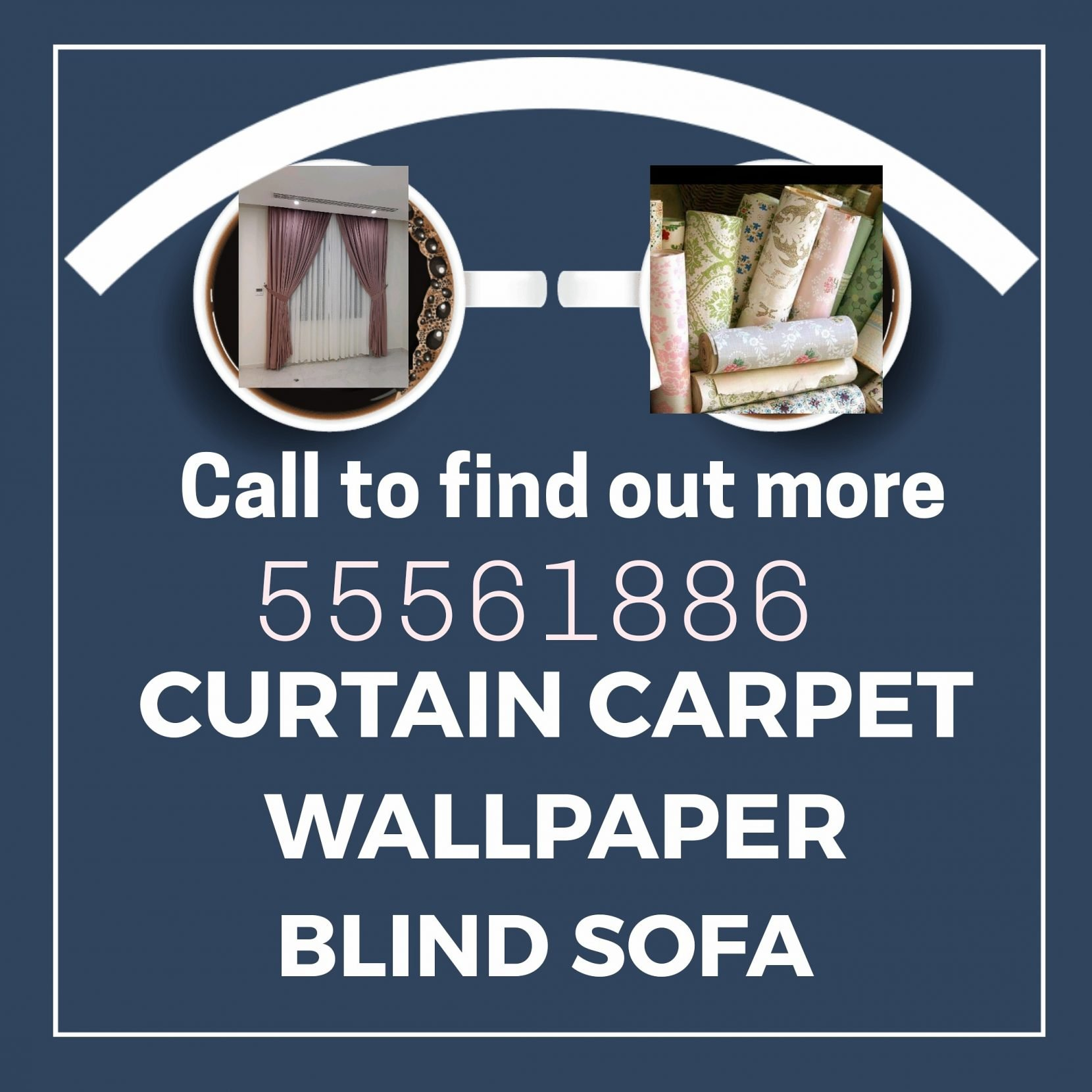 Curtain sofa wallpaper blind