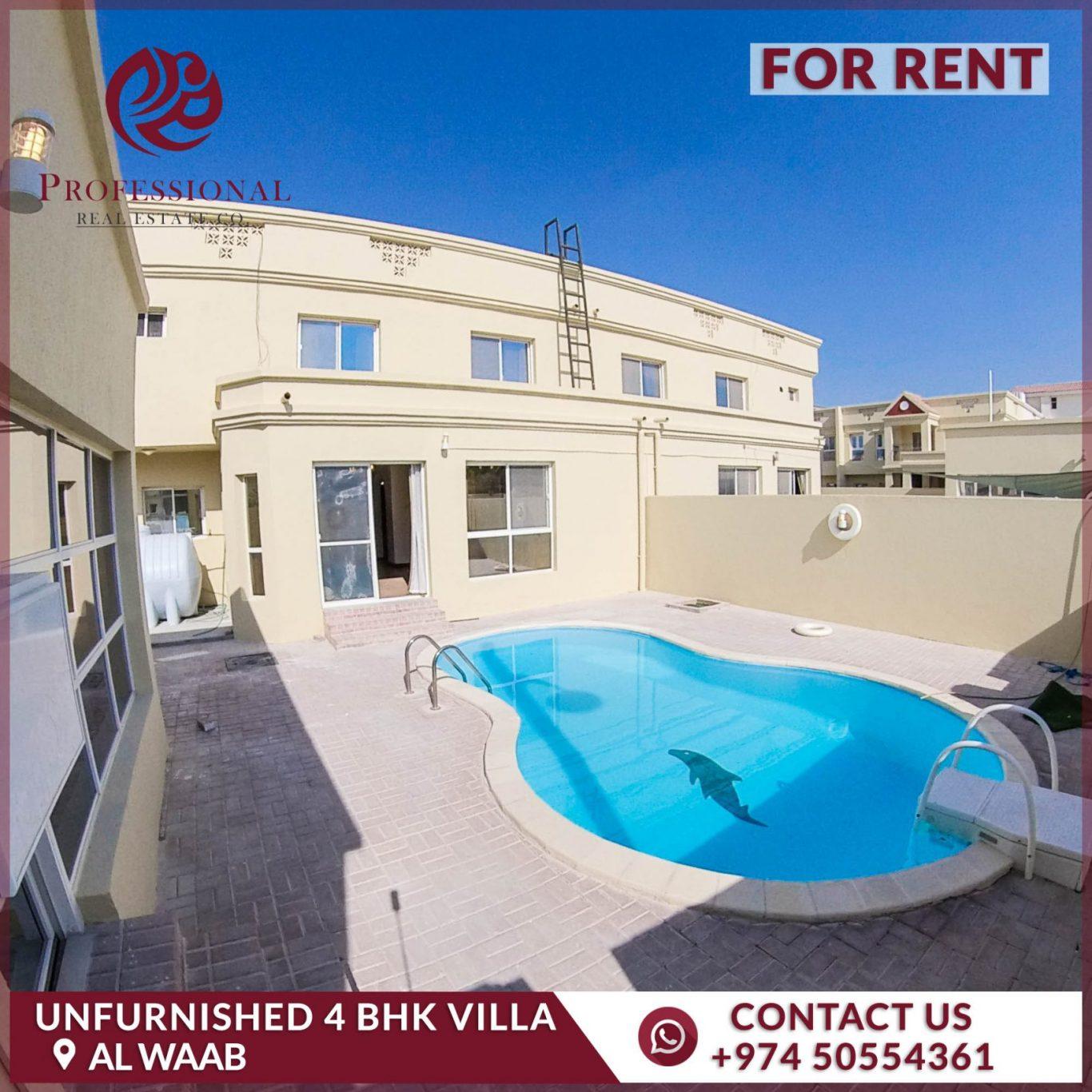 Unfurnished, 4 BHK Compound Villa in Al Waab