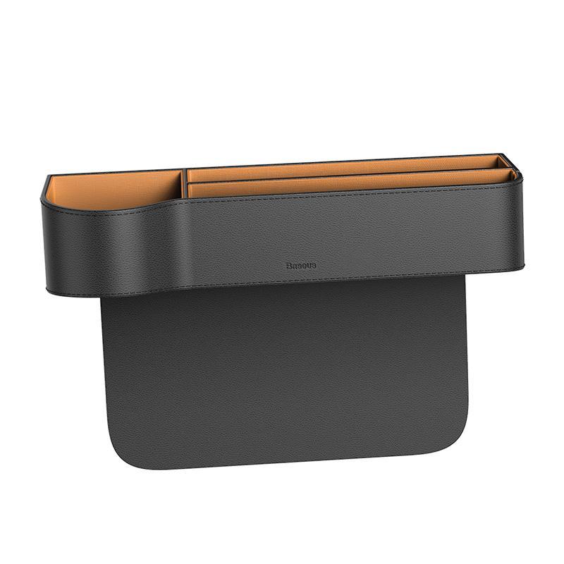 Baseus قطعة تخزين للسيارة من الجلد -أسود