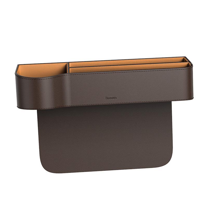 Baseus قطعة تخزين للسيارة من الجلد -بني
