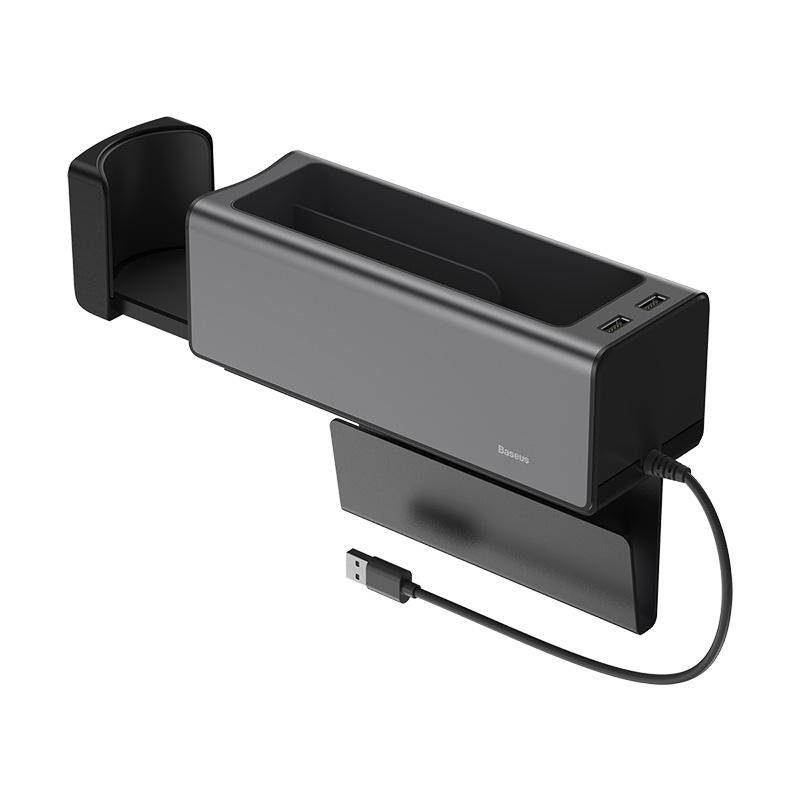 Baseus قطعة تخزين لكرسي السيارة – أسود