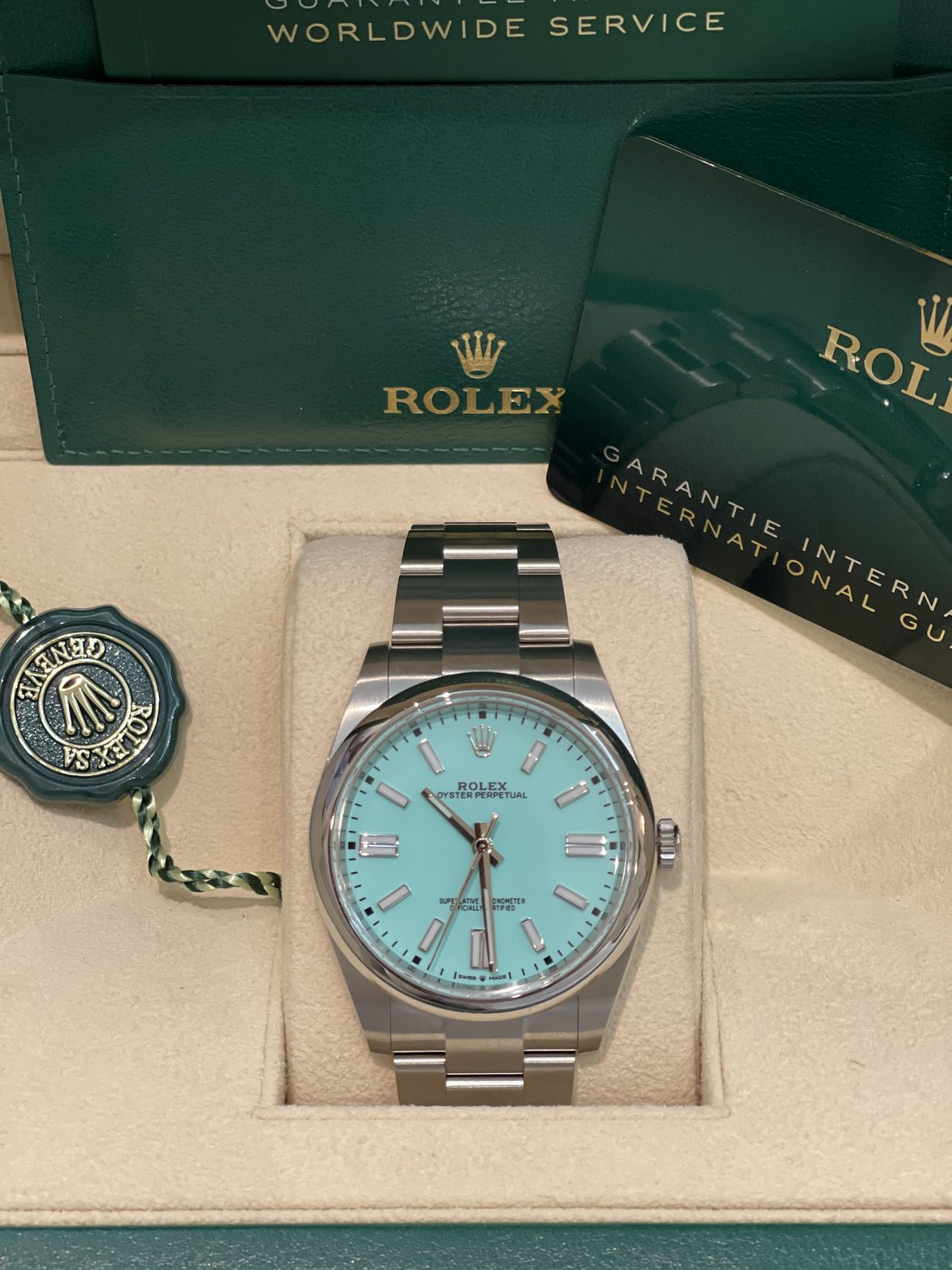 Rolex perpetual 41mm customized tiffany dial