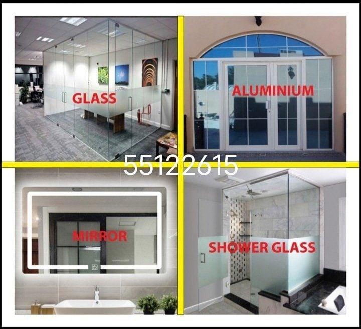 All Glass aluminum work