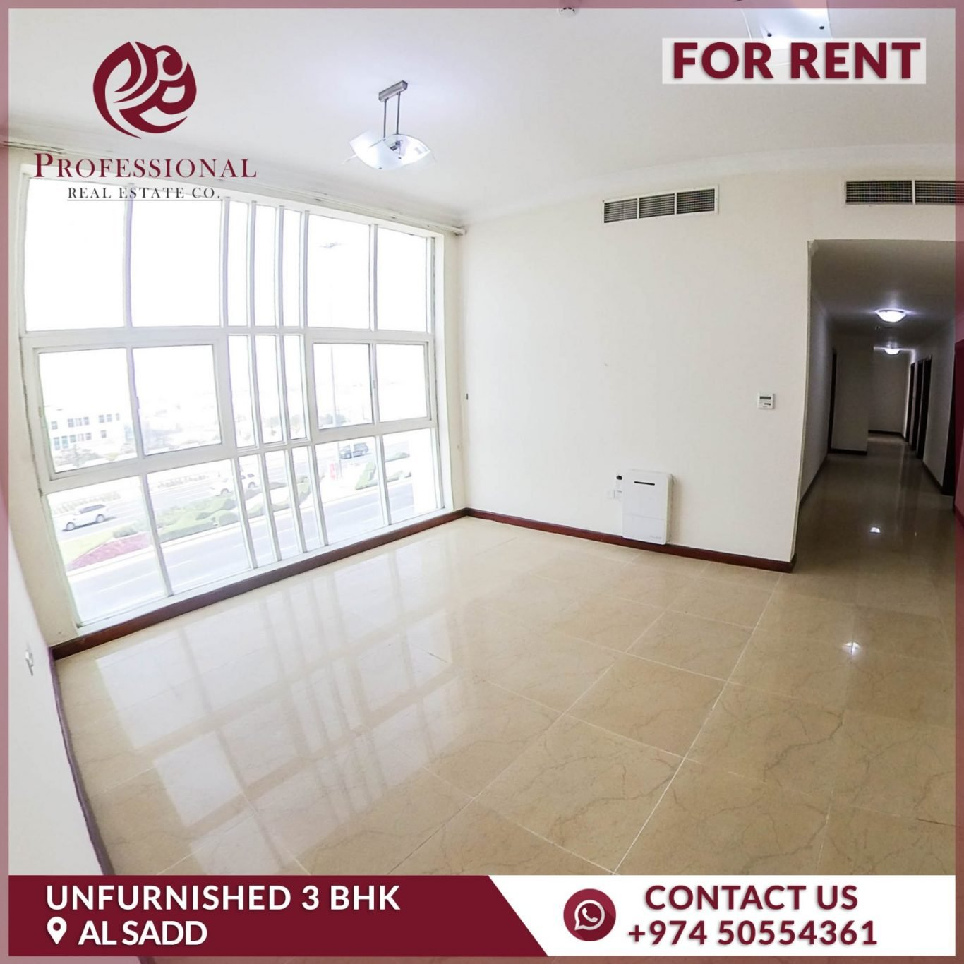 Unfurnished, 3 BHK Apartment in Al Sadd