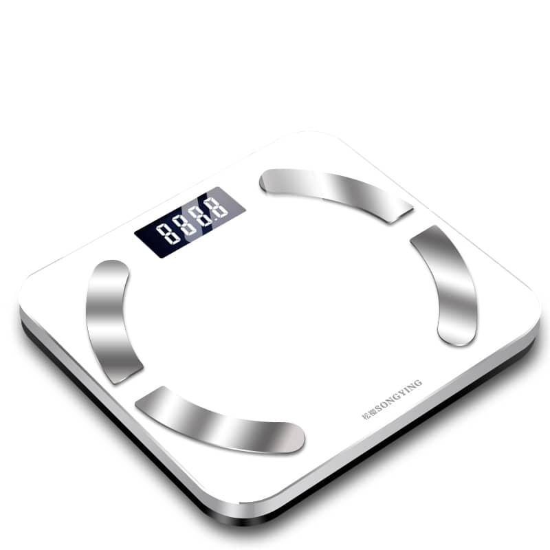 ميزان كتلة الدهون مع برنامج للجوال- أبيض