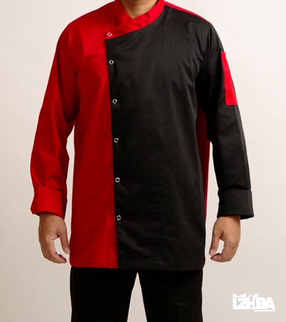 Chef Jacket – Black and Red