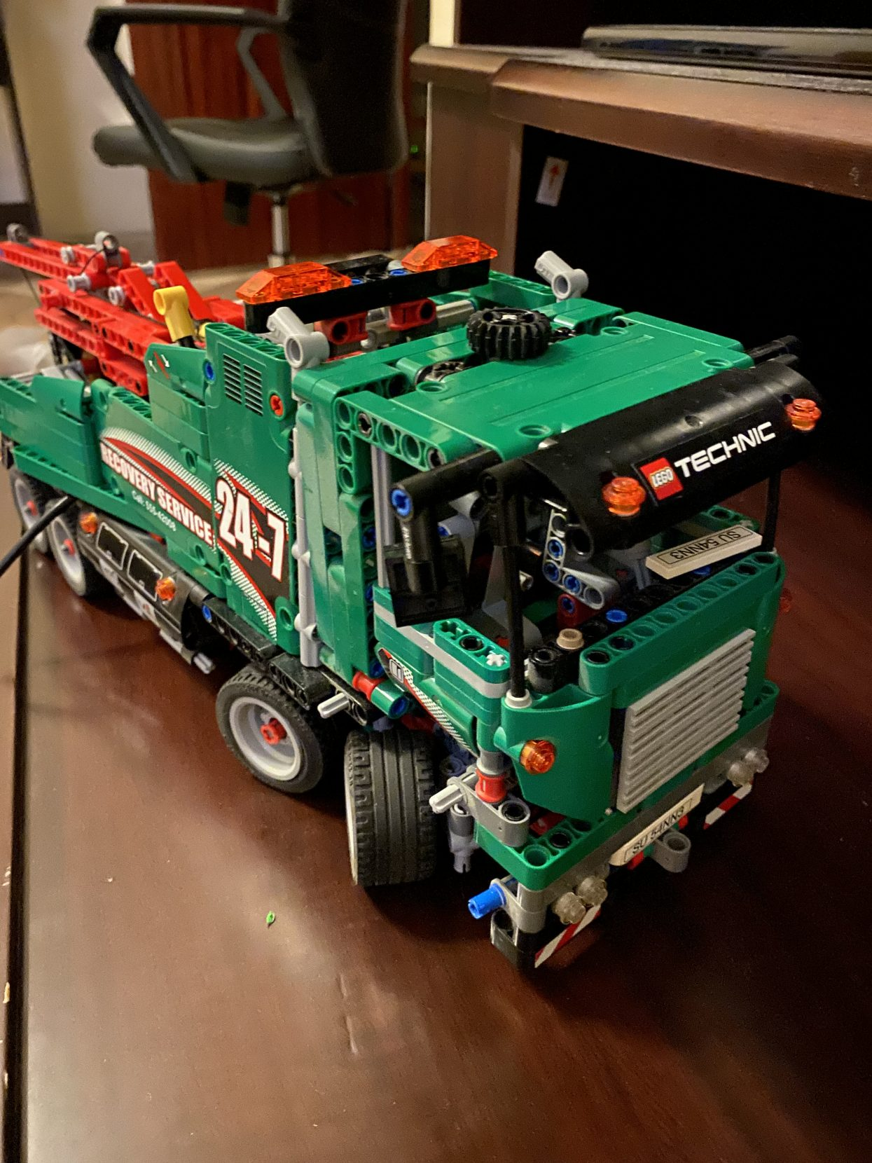 An already finished complete lego truck
