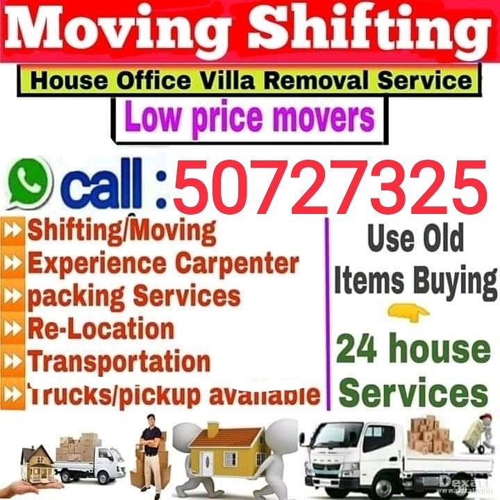 Moving,Shifting cerpentor and Transport service. Call 30953455