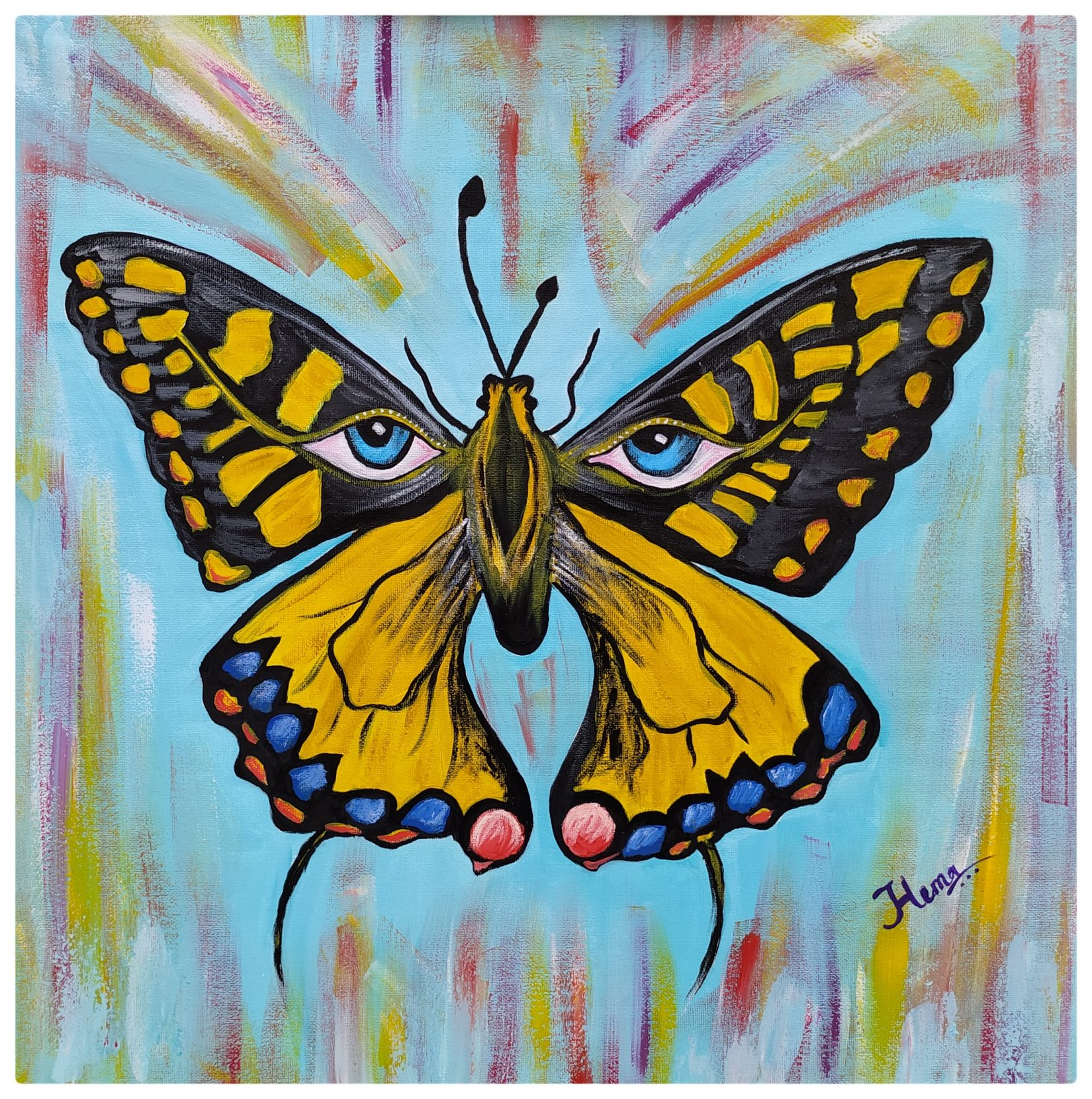 Handmade Butterfly Painting