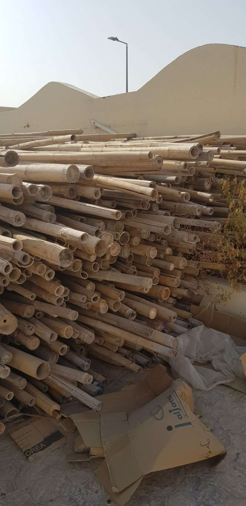 خشب بامبو لديكورات