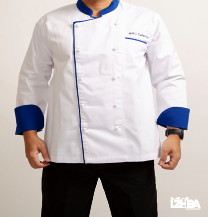 Chef Jacket – White with blue line