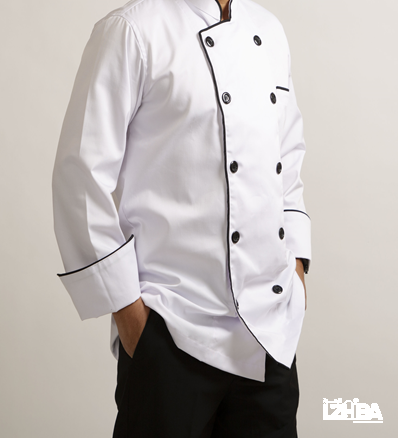Chef Jacket – White color with black line