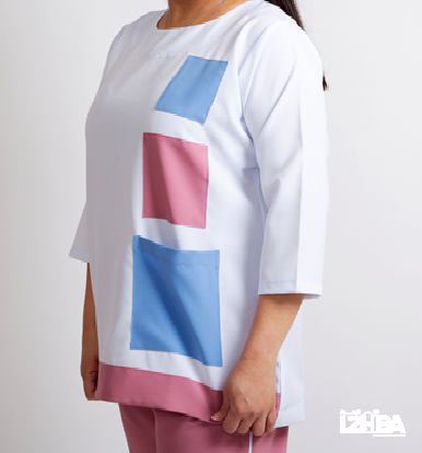Maids Uniform – White with Pink and Blue colors