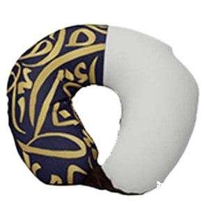 U neck Printed: Arabic Calligraphy (Blue)