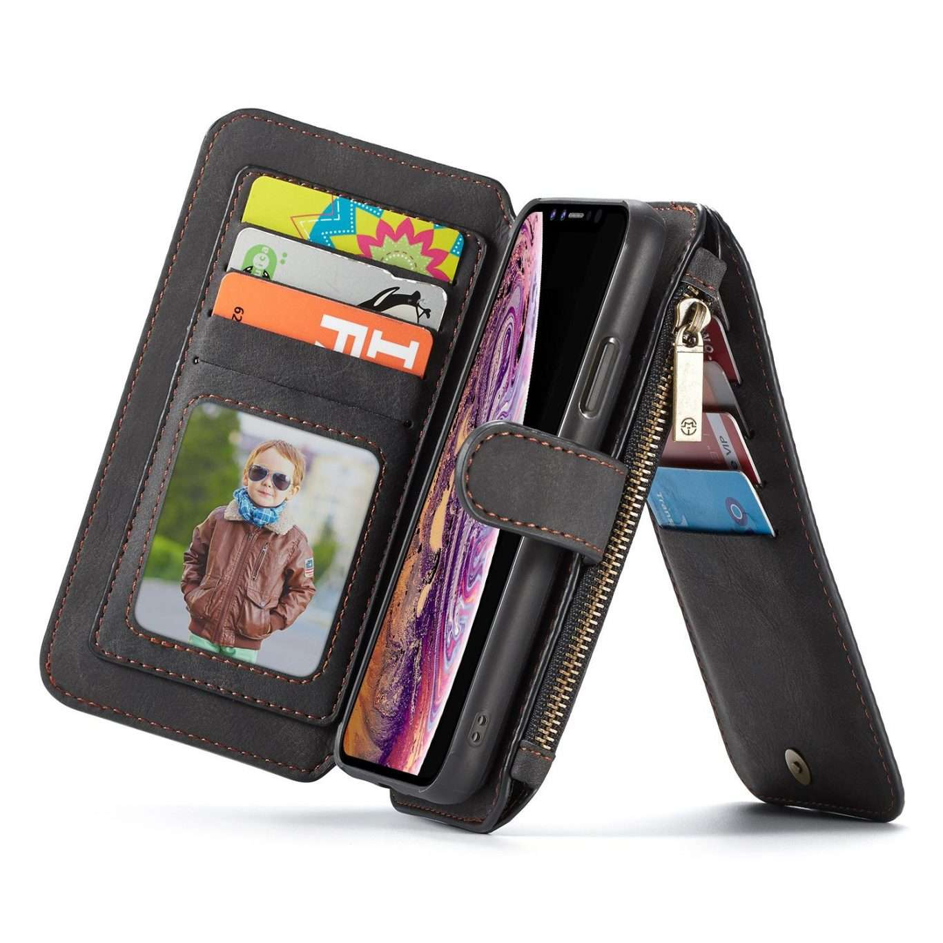 KL-02557 SAMSUNG Phone Leather Case – Black