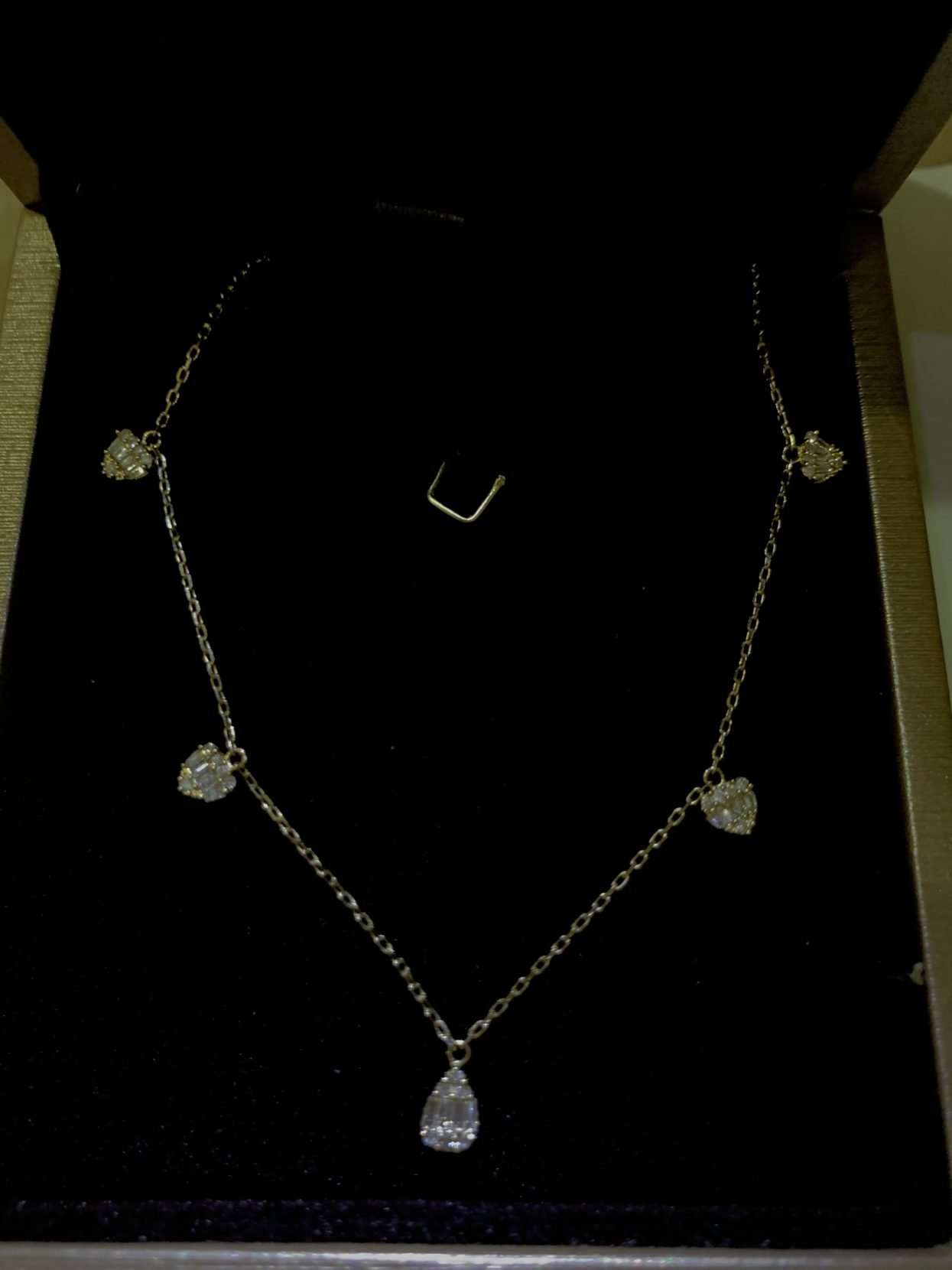 Diamond station necklace for sale