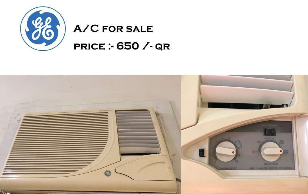GE Window A/C For SALE