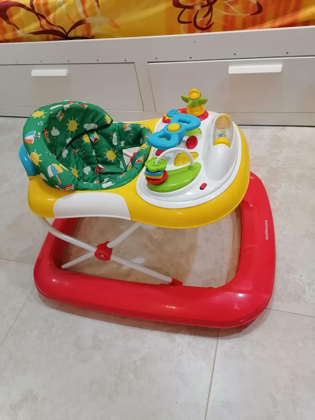 Baby walker from mother care 150 not much used,  baby crib 80 rayal fabric can b wash, and clothes stemaer 80 rayal few time used
