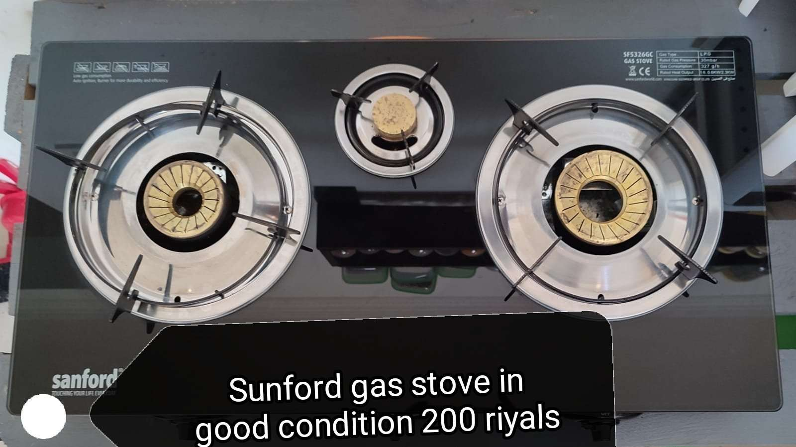 Sunford gas stove in good condition