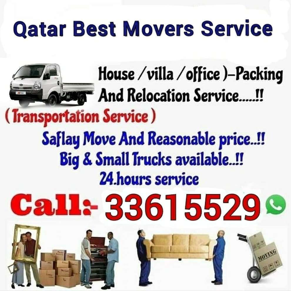 Qatar Best Movers House/villa/office Moving service WhatsApp (Only Click the link) https://wa.me/97433615529 We are expert in moving all kinds of bedroom set & Furniture.We have expert carpenter for dismantling and fixing furniture. We also buy used furniture & damaged A.C. Our services are available all places in Qatar Call:33615529  OUR SERVICE We do house, villa Moving/Shifting. All furniture items dismantling & fixing. Bedroom set shifting/moving/fixing. Bedroom sat fixing. Transportation. Re-Location. Labour service. Truck & Pickup service.Our Service All Qatar.Buying House All Hold Items. ★ Anytime anywhere available our best service.