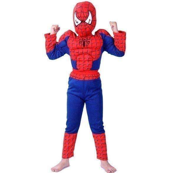 Marvel Spiderman Costume with Muscle – Red