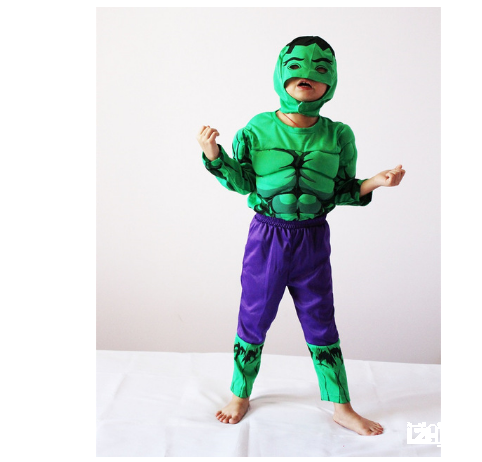 Marvel Hulk Costumes with Muscle – BOY