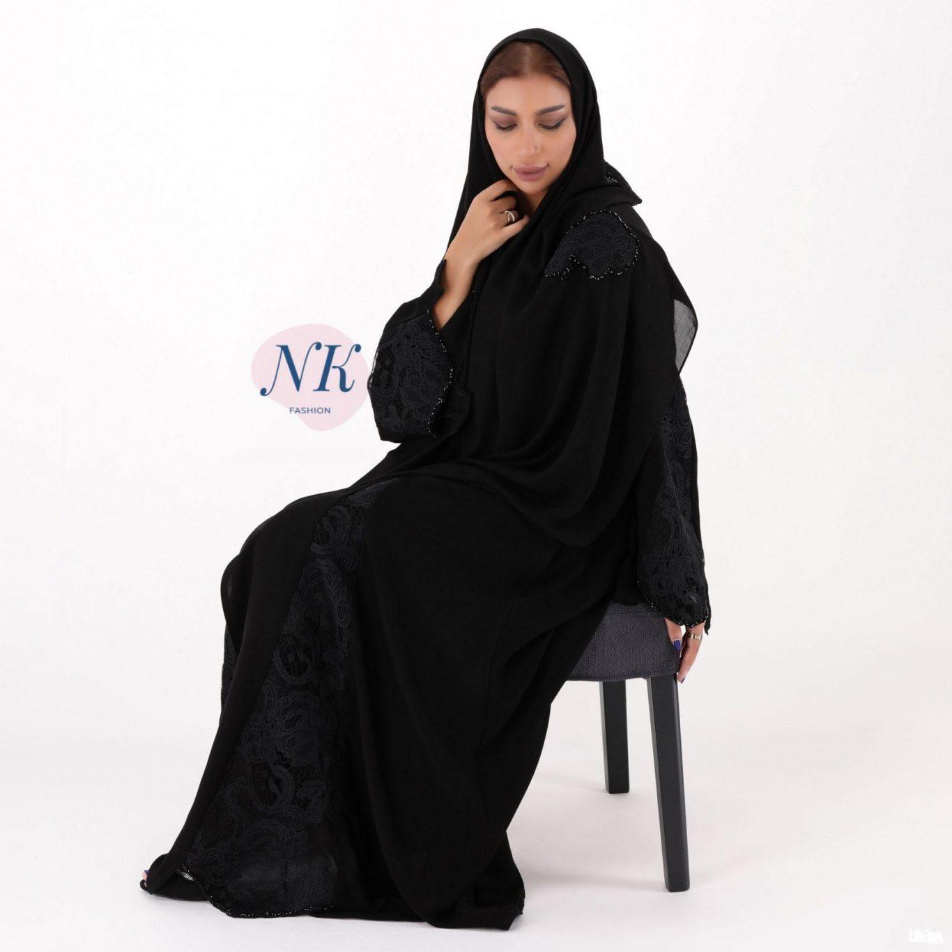 Black Abaya with a Luxury Lace