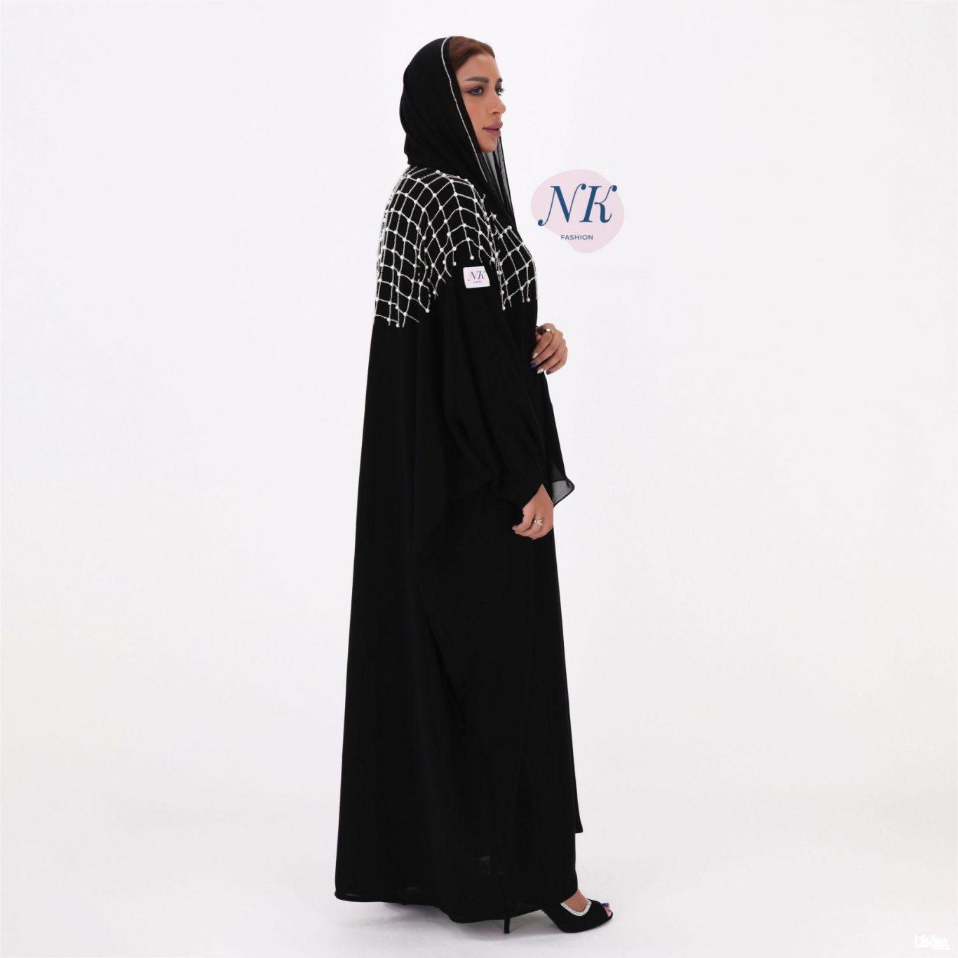 Black & Pearls Abaya