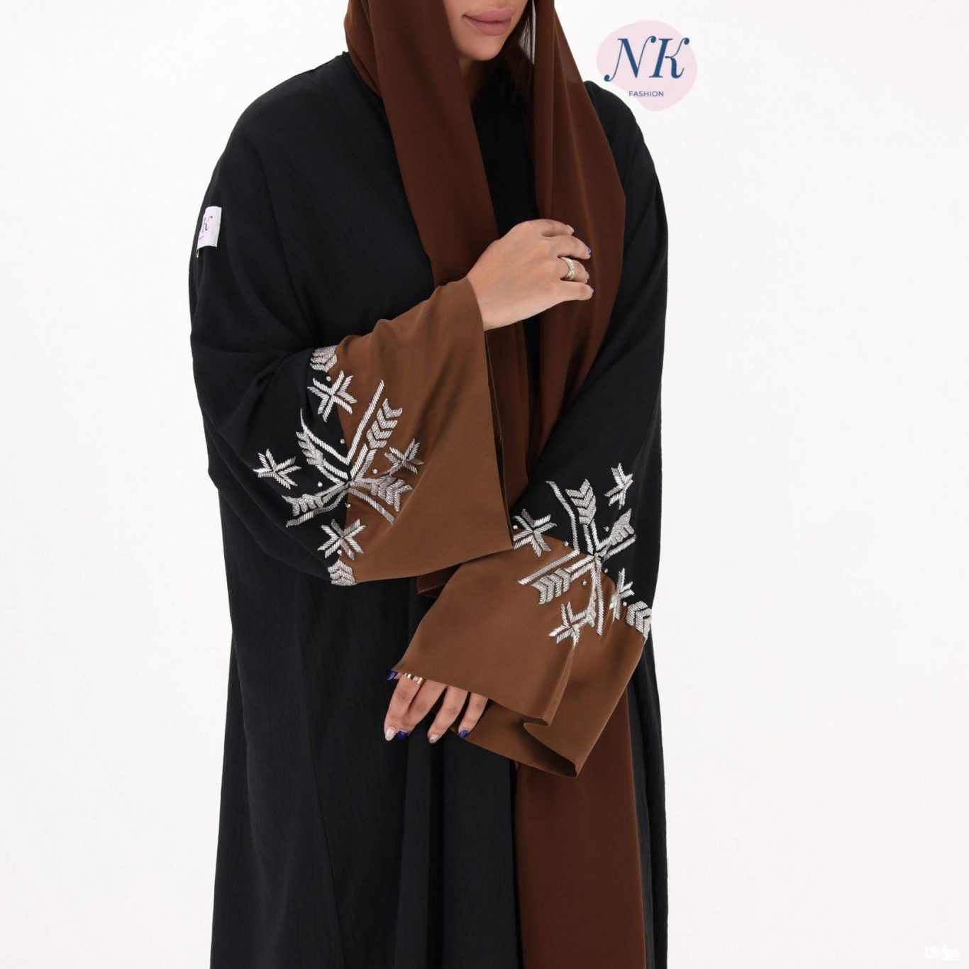 Brown & Black Abaya