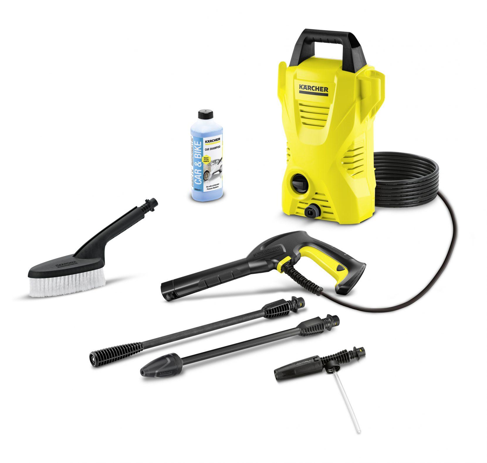 K2 CAR COMPACT KARCHER PRESSURE WASHER 110BAR MAX WATER PRESSURE, WITH ACCESSORIES – GERMANY