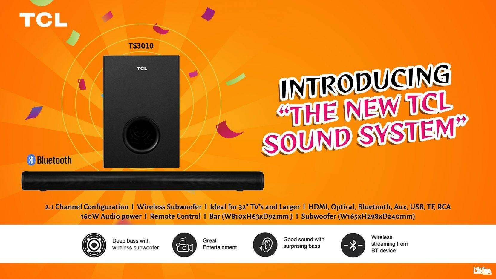 TCL SOUND BAR 2.1/WIRELESS