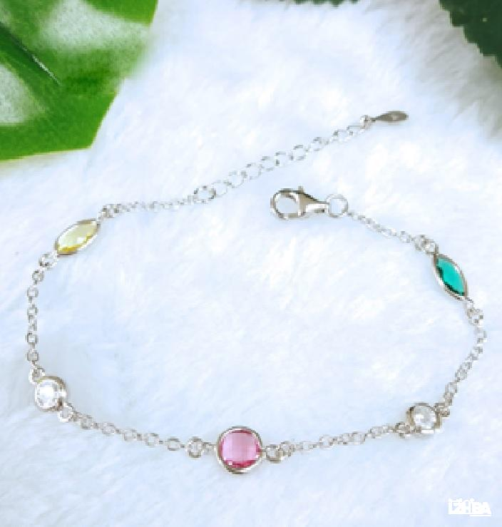 Silver 925 colored beads bracelet/ Thai industry