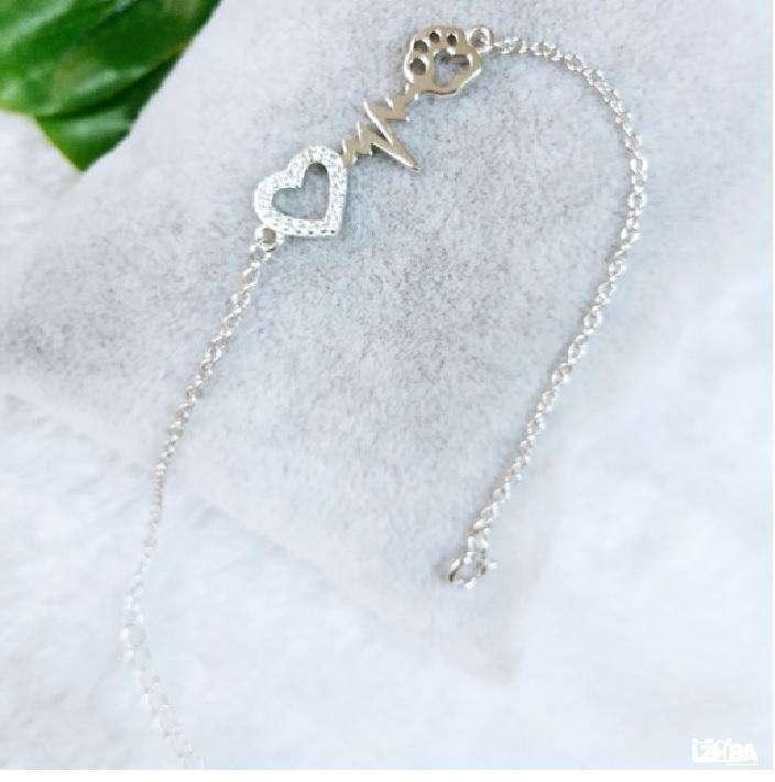 Silver 925 heartbeat bracelet/ Thai industry